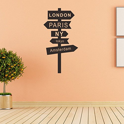 House Decor Wall Sticker Signpost Removable Vinyl Wall Decor Decal ...