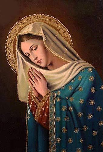 ZuanShiDaHeng Diamante Mosaico Fai da Te Pittura Diamante 5D Punto Croce Le Immagini Religiose di Maria Famiglia Decorazione Ornamenti Regalo Fatto A Mano 20X30cm