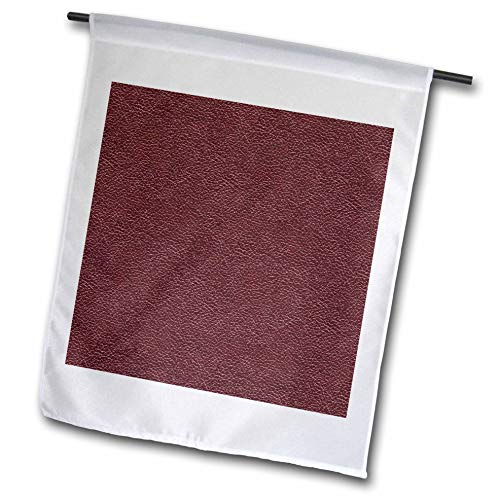 - 3dRose Alexis Design - Pattern Leather - Image of Brown Leather Pattern. Elegant Background - 18 x 27 inch Garden Flag (fl_300532_2)