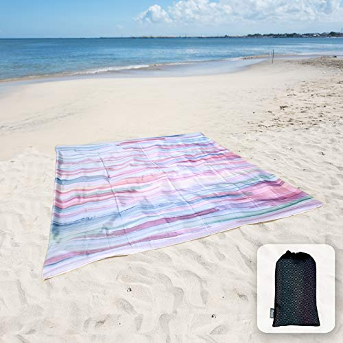 Sunlit Silky Soft Sand Proof Beach Blanket Sand Proof Mat