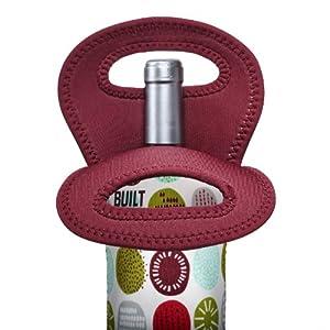 BUILT NY Neoprene Wine/Water Bottle Tote, Peppermint Jubilee