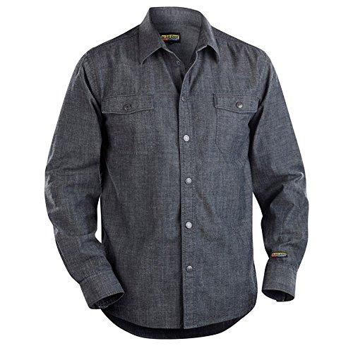 Navy Blue Blaklader 329511298900XS Denim Safety Shirts X-Small