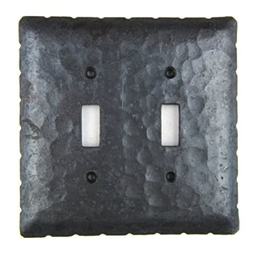 Rustic rancho wrought iron double toggle switch plate cover eph44 handmade - Wrought iron switch plate covers ...