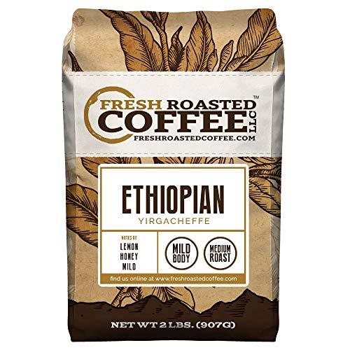 Ethiopian Yirgacheffe Coffee, Whole Bean, Fresh Roasted Coffee LLC (2 lb.) -