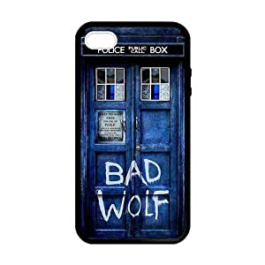 Pink Ladoo? Custom Doctor Who TARDIS Bad Wolf Skin Personalized Custom Hard CASE for iPhone 4 4s Durable Case Cover