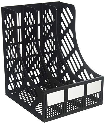Evelots 3-Compartment File & Magazine Holder-Desktop/Organizer-Sturdy Plastic
