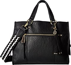 You've found your perfect style companion with the Jessica Simpson™ Levona Satchel.  Made of textured man-made material. Zipper closure.  Dual carrying handles with detachable, adjustable crossbody straps. Exterior front and back zip and slip...