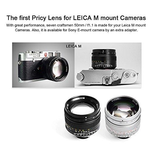 7artisans 50mm F1 1 Fixed Lens for Leica M-Mount Cameras Like Leica M2 M3  M4-2 M5 M6 M7 M8 M9 M10 M4P M9p M240 M240P ME M262 M-M CL -Black - Reviews  &