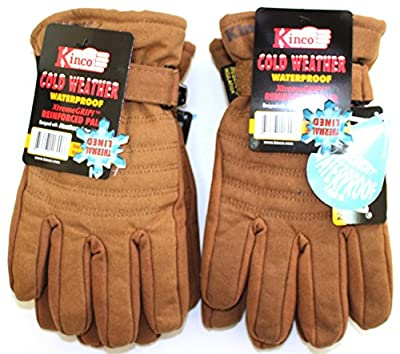 Kinco 1170 (2-Pack) Ski Glove for Men- Warm Winter Glove - Reinforcing Palm - AquaNOT! Waterproof Insert keeps Hands Warm and Dry