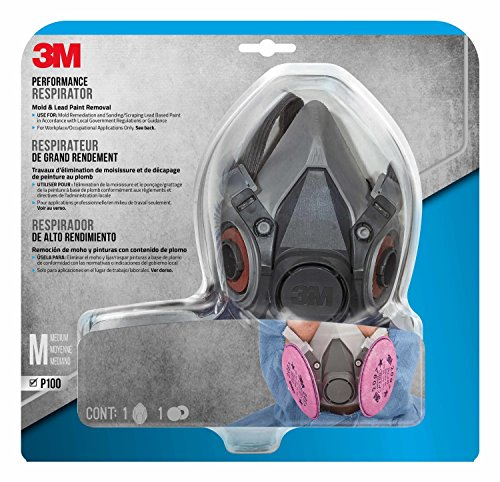 3M Mold and Lead Paint Removal Respirator, Medium - 6297PA1-A (Best Paint For Mold)