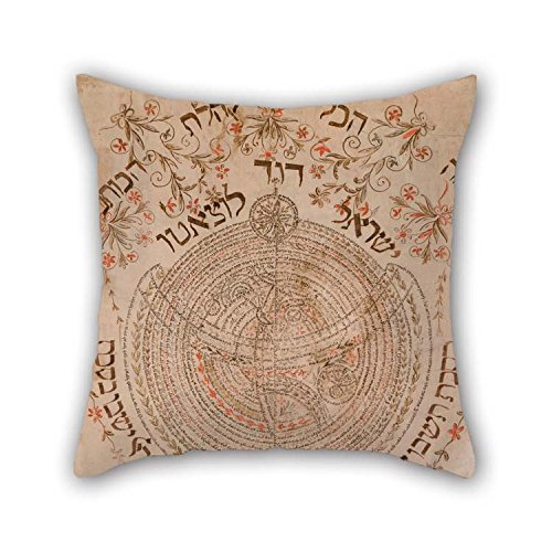 TonyLegner Pillow Covers 20 X 20 Inches / 50 by 50 cm(Each Side) Nice Choice for Bedroom Dance Room Couch Car Home Dining Room Oil Painting Israel David Luzzatto - Sukkah Decoration for $<!--$11.99-->
