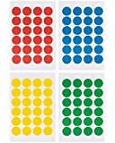 "Saurus Pack of 2016 Round Color Coding Dot Labels, Multicolored, Red, Blue, Yellow, Green, Pack of 2016, 0.75 Inches, 4"" X 6"" Sheet"