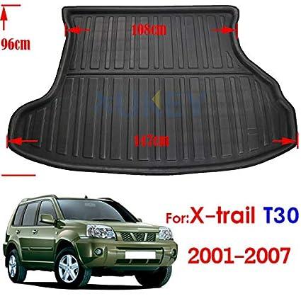 Car Boot Boot Liner para Nissan X-Trail Rogue XTrail T30 T31 T32 2001-2018 Piso del Maletero Trasero Bandeja Alfombra Protector de Barro