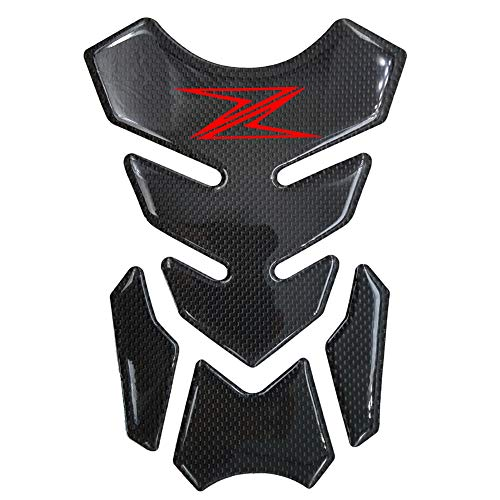 - Red 3D Carbon Fiber Fuel Gas Tank Pad Sticker Decals for Kawasaki Z900 Z800 Z1000 Z750 Z650 SX