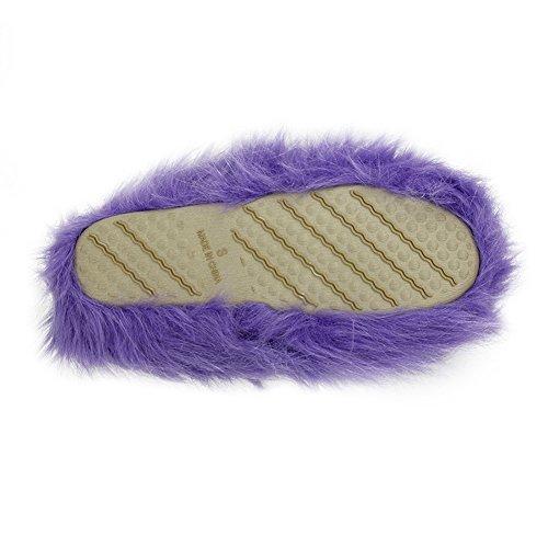 Home Slipper Womens Warme Schattige Lange Fleece Pluche Indoor House Spa Slippers Klompen Lichtpaars