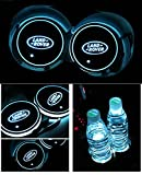 Car Logo LED Cup Pad led cup coaster USB Charging Mat Luminescent Cup Pad LED Mat Interior Atmosphere Lamp Decoration Light (Range rover)