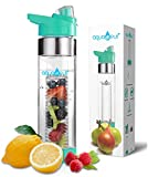 NEW COLORS AquaFrut Bottom Loading Fruit Infuser Water Bottle 24 oz (Teal)