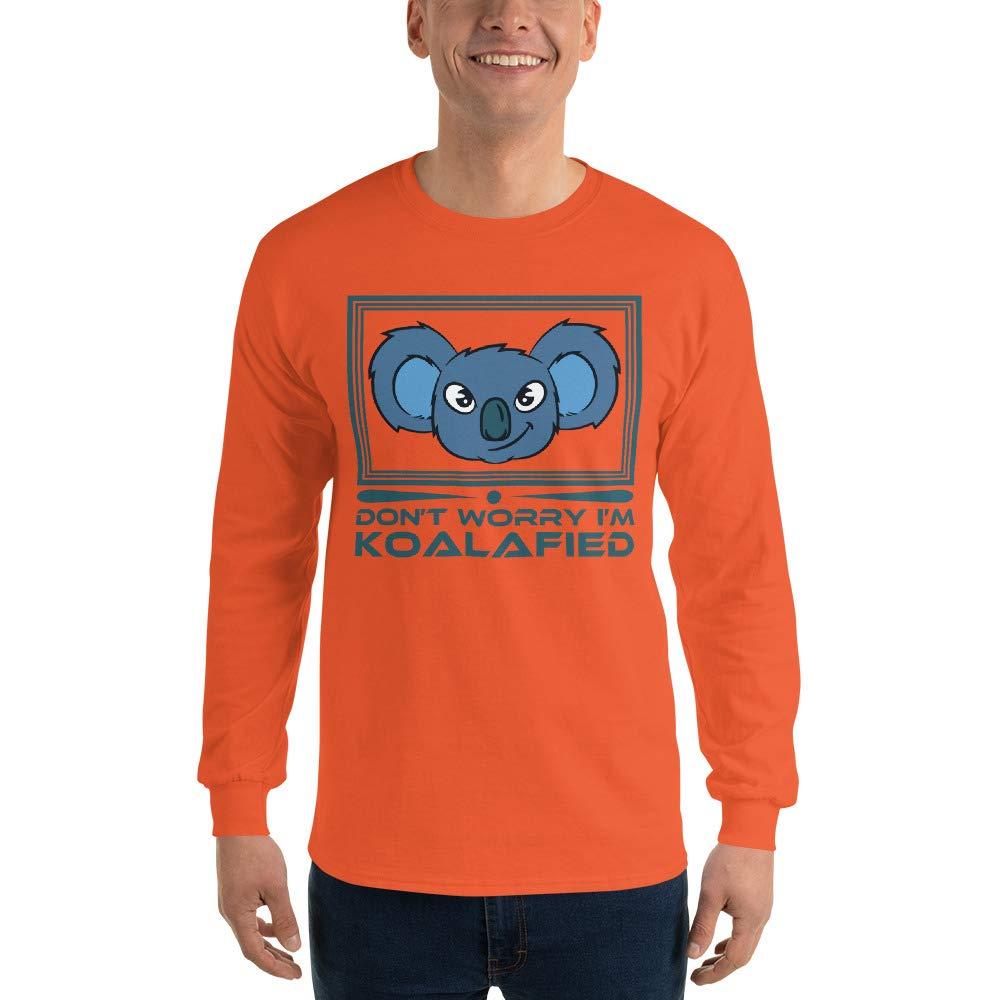 Work Shirt Office Gift Ideas Career Shirt Dont Worry Im Koalafied Long Sleeve T-Shirt