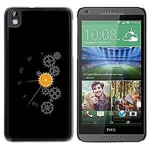 Be Good Phone Accessory // Dura Cáscara cubierta Protectora Caso Carcasa Funda de Protección para HTC DESIRE 816 // Clockwork Orange