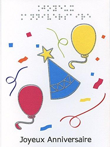 Tarjeta de felicitación en Braille y táctil cumpleaños feliz ...