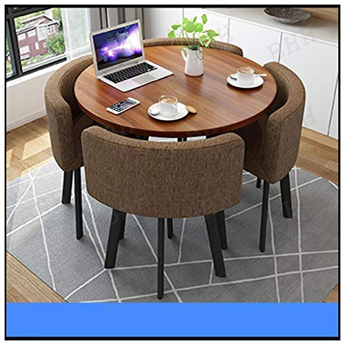 Simple Kitchen Table and Chair Sets 5, Furniture Combination Office Business Office Negotiation Table Sofa Seat Living Room Cafe Hotel Lobby Library Balcony Milk Tea Shop Cinema Sweet Shop