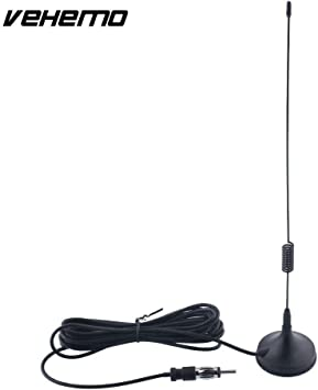 Vehemo - Antena universal para radio Am/Fm para coche, antena ...