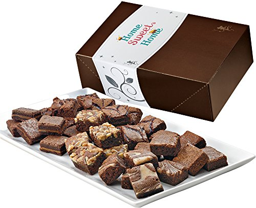 Fairytale Brownies Home Sweet Home Magic Morsel 36 Gourmet Food Gift Basket Chocolate Box - 1.5 Inch x 1.5 Inch Bite-Size Brownies - 36 Pieces