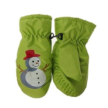 912f43a8da85d1 ECMQS Weihnachten Schneemann Kinder Winterhandschuhe, Thermo Warm  Handschuhe Atmungsaktive Fausthandschuhe Kinderhandschuhe Winddicht Ski  Fäustlinge Pink