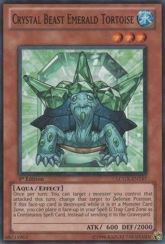 Yu-Gi-Oh! - Crystal Beast Emerald Tortoise (LCGX-EN157) - Legendary Collection 2 - 1st Edition - - Tortoise Emerald