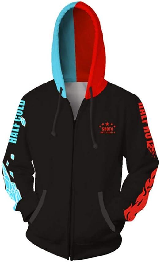 COSFLY Boku No Hero Academia My Hero Academia Todoroki Shoto Hoodies Pullover Sweatshirt Cosplay Costume Jacket Coat