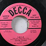 VICTOR YOUNG AND HIS SINGING STRINGS 45 RPM SMILE / THE