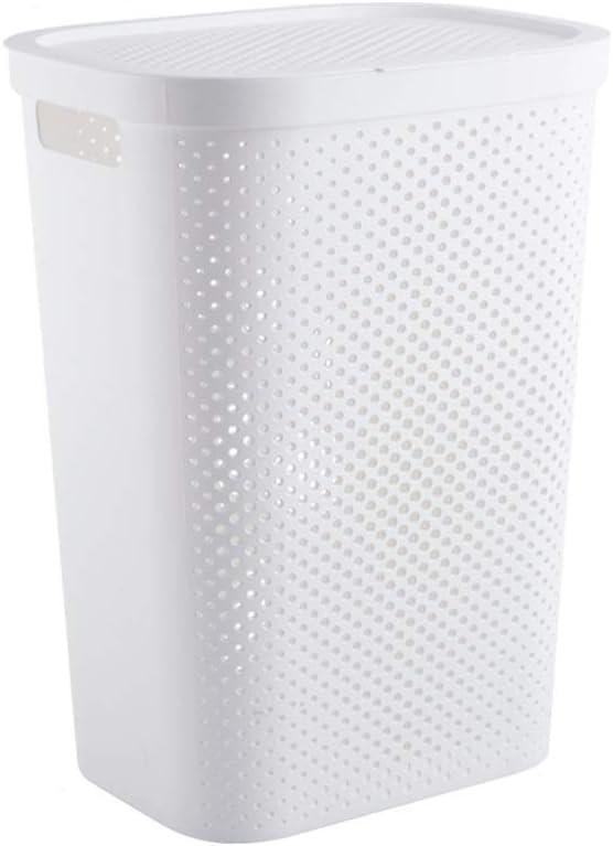 Cylficl Boîte de Rangement de ménage de Panier de blanchisserie de Chambre à Coucher de Panier de Rangement de vêtements, avec la Conception de Couvercle, très Grande (Color : B) B