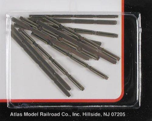 N Code 80 Nickel Silver Rail Joiners (6/Cd) Atlas - Atlas Connector