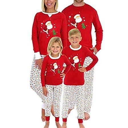 Pijama Navidad Familiar Santa Claus Impreso Familia Mismo Vestido ...