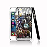 Grey Overwatch All Heroes iPhone 6 Case, Multi Color Action Game Hero iPhone 6s Cover Game Character Gaming Themed iPhone Casing Gift Gamer, Shooting Game, Hard Plastic