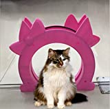 Flying Spoon 10.6x9.5 Inch Pink Interior Cat Door with 7 Inch Arch Hole