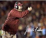 "Jimbo Fisher Florida State Seminoles (FSU) Autographed 8"" x 10"" Pointing Photograph - Fanatics Authentic Certified"