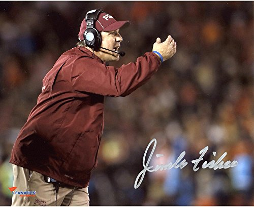 "Jimbo Fisher Florida State Seminoles (FSU) Autographed 8"" x 10"" Pointing Photograph - Fanatics Authentic Certified"