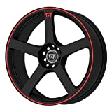 01 c240 rims - Motegi Racing MR116 Matte Black Wheel With Red Racing Stripe (18x8/5x112, 114.3mm, 45mm offset)