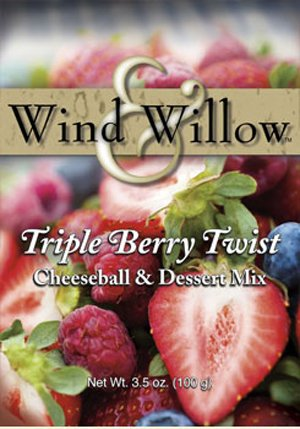 Wind and Willow Wind & Willow Triple Berry Twist Dessert Cheeseball Mix - 3.2 Ounce (4 Pack) - Berry Twist