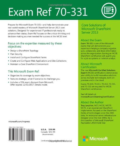 Buy Exam Ref 70-331: Core Solutions of Microsoft SharePoint Server ...