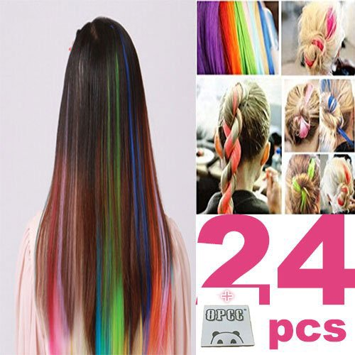 Multi Colors Highlights Colorful Synthetic Extensions product image