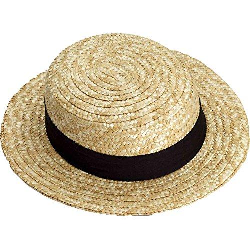 Forum Novelties Straw Skimmer Hat