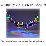 FoRapid 1.2M 10 LED Photo Clip String Lights