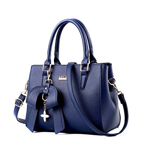 cuir épaule bandoulière porté femme pu Top à Sac Bleu Foncé sacs à féminin MINICE sac Sacs messenger main POqwz