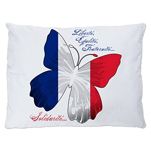 Indoor Luxury Plush Dog Bed French Flag Butterfly Solidarite (Louis Dog Beds)