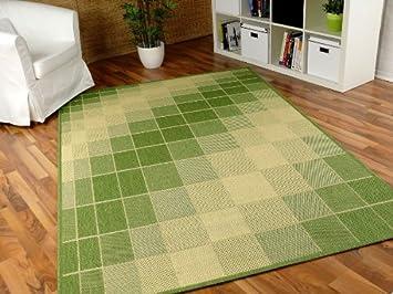 Teppich flachgewebe ruggy grün beige in größen amazon küche