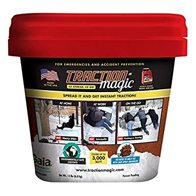 Traction Magic 15 lb. Bucket and Kit Salt Ice Melt