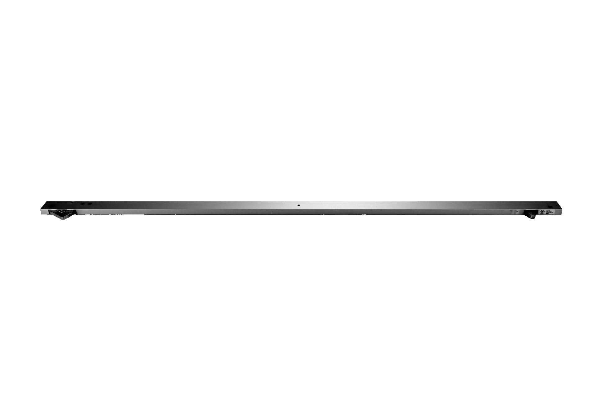 Don-Jo 2023 Aluminum Door Coordinator with Filler Bar, Satin Anodized Aluminum Finish, 52'' Length x 1-5/8'' Width, 44'' Length x 1-5/8'' Width Filler Bar