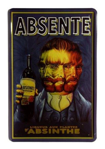 Absente Absinthe 20– Plaque 30 x 55 cm Blechladen